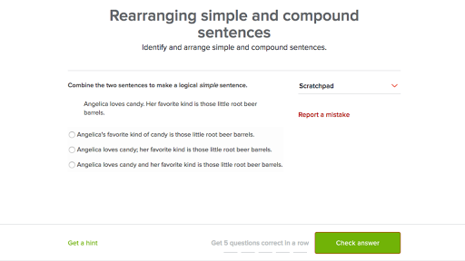 Simple And Compound Sentences Practice Khan Academy