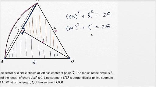 Circle Theorems Basic Example Video Khan Academy