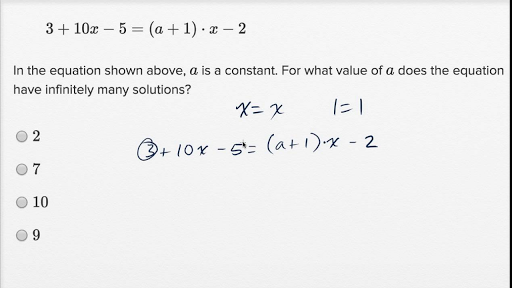Solving linear equations and linear inequalities — Harder example