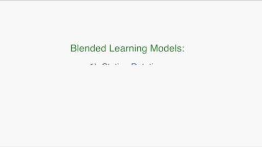 The Station Rotation Model Video Khan Academy