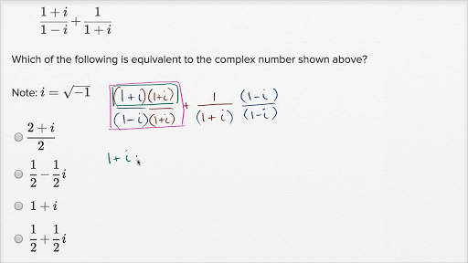 Complex numbers — Harder example