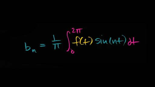Fourier coefficients for sine terms