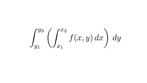 double integral with steps