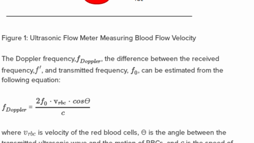 Using ultrasounds to measure blood flow velocity (practice