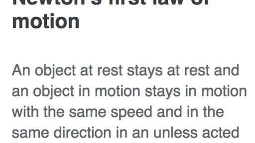define first law of motion