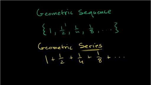 Geometric series intro