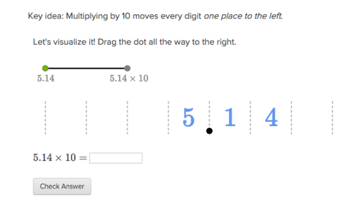 Multiplying Decimals By 10 100 And 1000 Article Khan Academy
