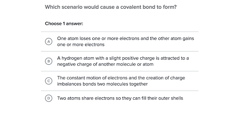 Chemical Bonds Practice Khan Academy