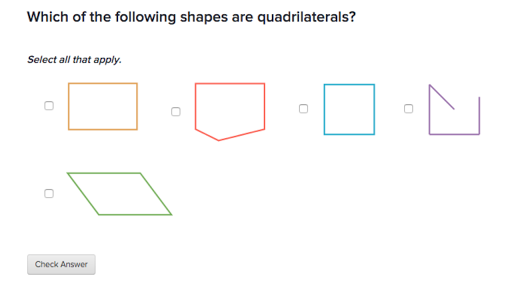 graphic relating to Khan Academy Printable Worksheets known as Figuring out quadrilaterals (write-up) Khan Academy