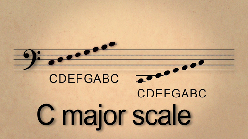 Lesson 5: C Major scale in bass clef and reading in bass clef
