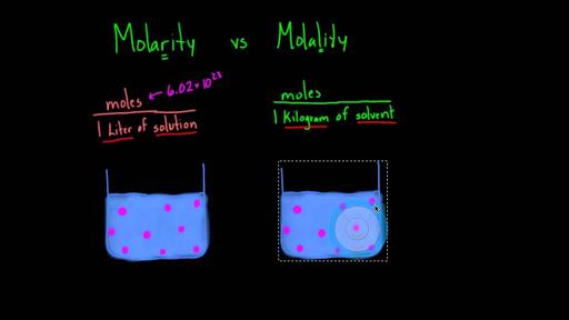 Molarity vs. molality (video)   Khan Academy