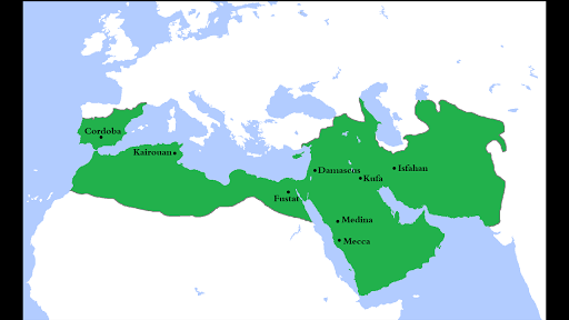 Map Of Spain During Muslim Rule.The Rise Of Islamic Empires And States Article Khan Academy