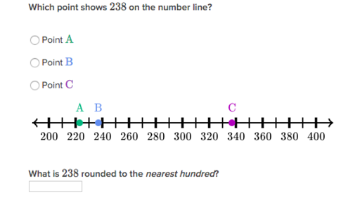 Round To Nearest 10 Or 100 On The Number Line Practice Khan Academy