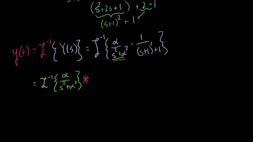 Using The Convolution Theorem To Solve An Initial Value Prob Video