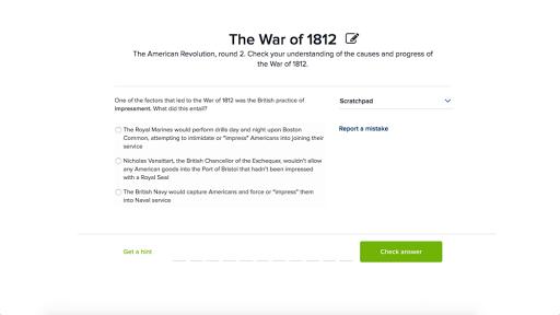 The War Of 1812 Article Khan Academy