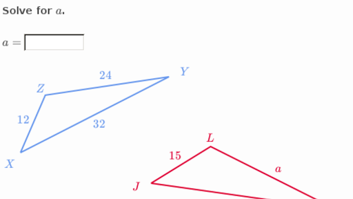 Solve Similar Triangles Basic Practice Khan Academy