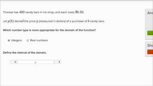 Function Domain Word Problems (practice) Khan Academy Conic Sections Worksheets Domain And Range Word Problems Worksheets #8