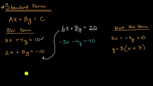 standard form 44  Clarifying standard form rules