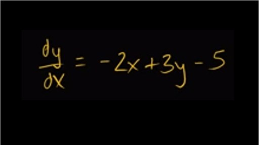 Worked example: linear solution to differential equation