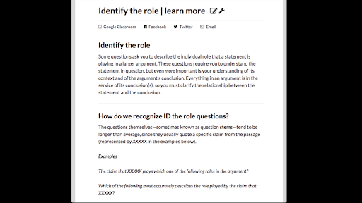 Identify the role | learn more (article) | Khan Academy