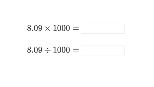 Multiply And Divide Decimals By 10 100 And 1000 Practice Khan