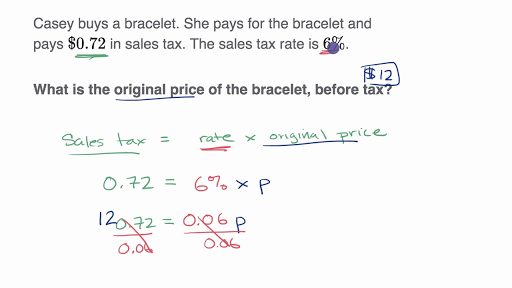 Percent word problems: tax and discount