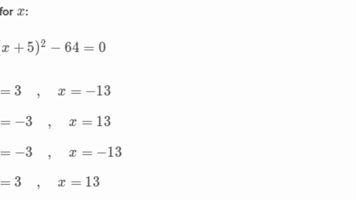 Solve quadratic equations by taking square roots (practice ...
