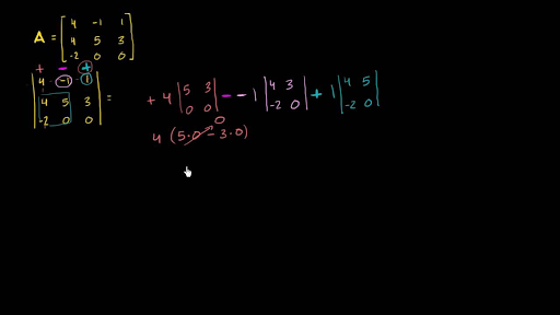 Determinant of a 3x3 matrix: standard method (1 of 2)