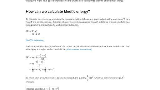 Introduction to work and energy video – Energy Calculations Worksheet