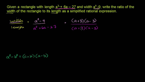 Simplifying Rational Expressions Common Binomial Factors Video