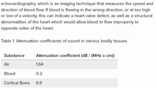 Doppler effect in living tissue (practice) | Khan Academy