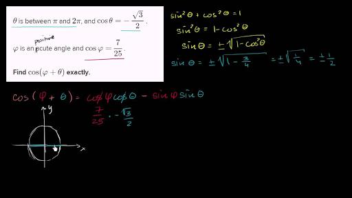 Trig challenge problem: cosine of angle-sum