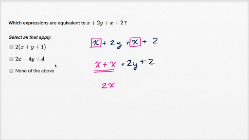 Equivalent expressions video – Equivalent Expressions Worksheet