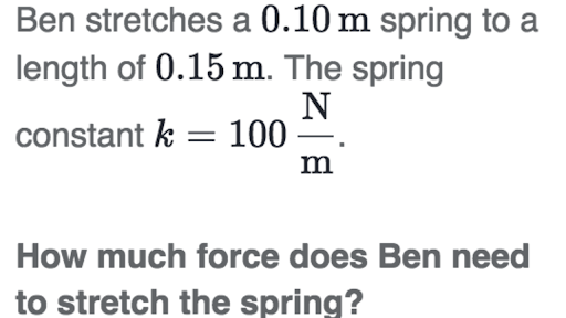 Calculating Spring Force Practice Khan Academy