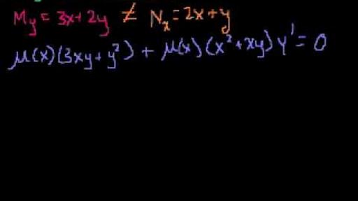 exact equations and integrating factors