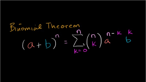 Intro To The Binomial Theorem Video Khan Academy