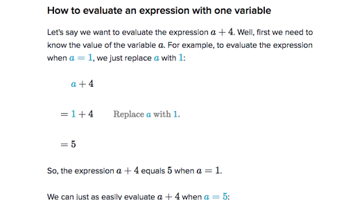 Variables expressions introduction 6th grade Math – Evaluating Variable Expressions Worksheet