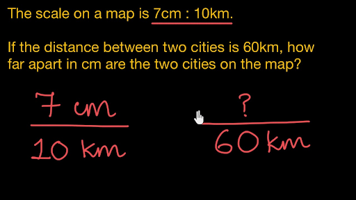 Scale drawing: centimeters to kilometers (Hindi)