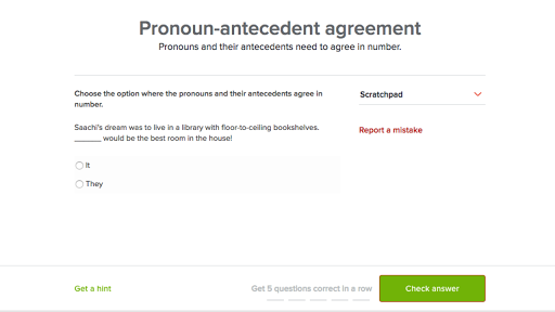 Pronoun Antecedent Agreement Practice