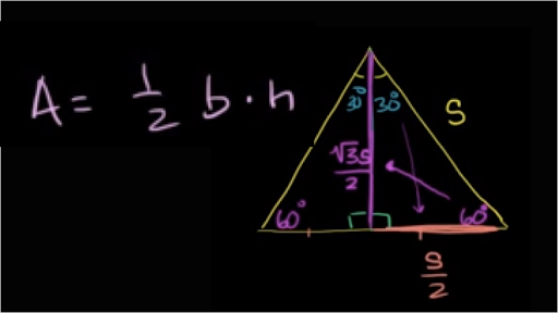 Area Of Equilateral Triangle Video Khan Academy