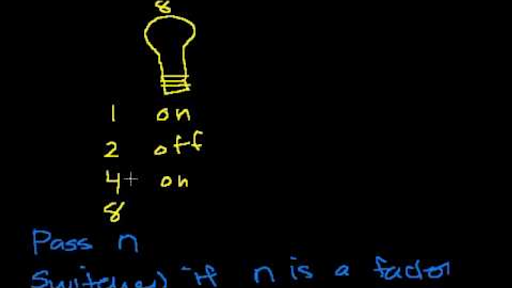 Light bulb switching brain teaser