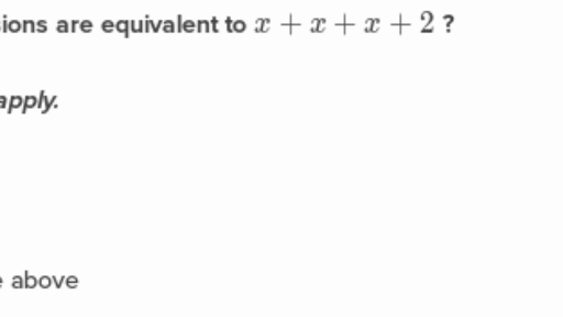 Equivalent expressions (practice) | Khan Academy