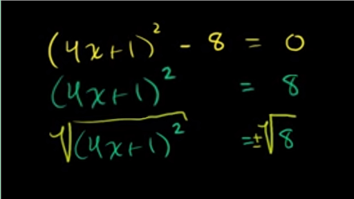Solving quadratics by taking square roots: challenge