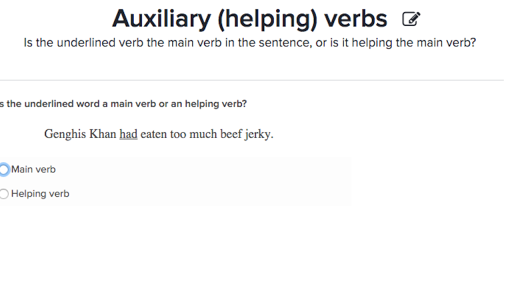 Auxiliary helping verbs practice – Main and Helping Verbs Worksheet