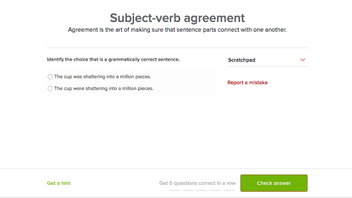 Subject Verb Agreement Practice Khan Academy
