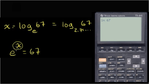 Evaluating natural logarithm with calculator