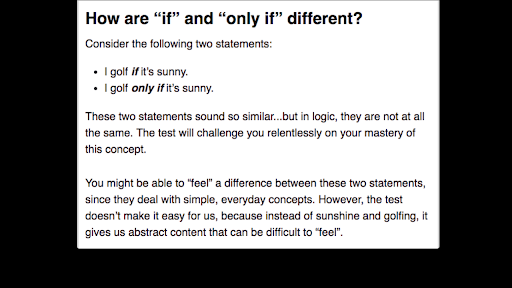 """The Logic of """"If"""" vs. """"Only if"""" (article) 