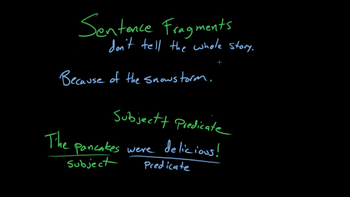Recognizing fragments