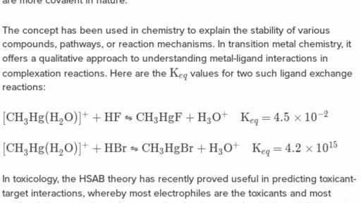 Applications Of Hard Soft Acid Base Theory Practice Khan Academy