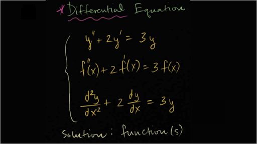 Differential equations introduction
